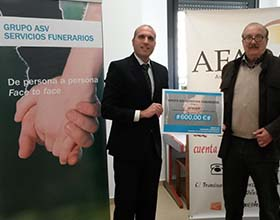 AFADAX receives a donation from the ASV Servicios Funerarios Group to reinforce its services